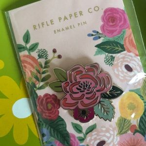 Rifle Paper Company pink flower enamel pin 🌺🌸🌺
